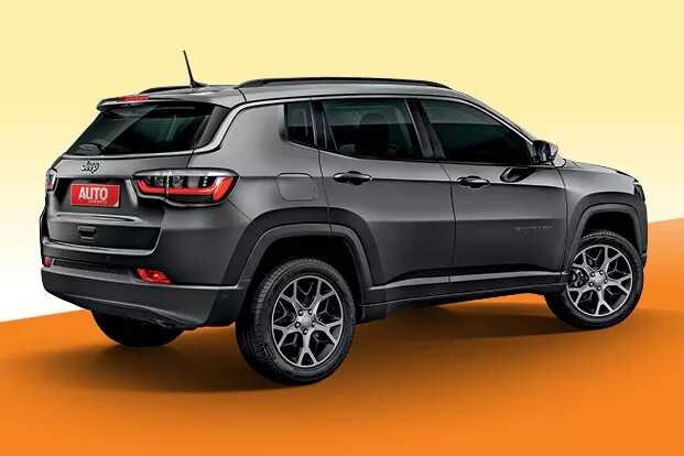 2021 Jeep Compass Facelift Rear Rendering