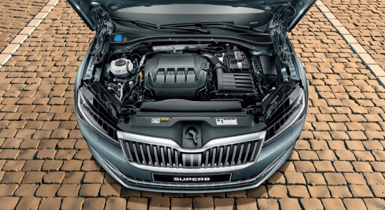 2020 Skoda Superb Facelift Engine Bay