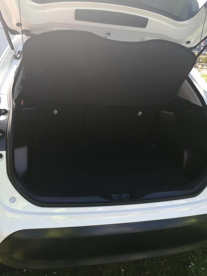 White Toyota Yaris Cross Boot