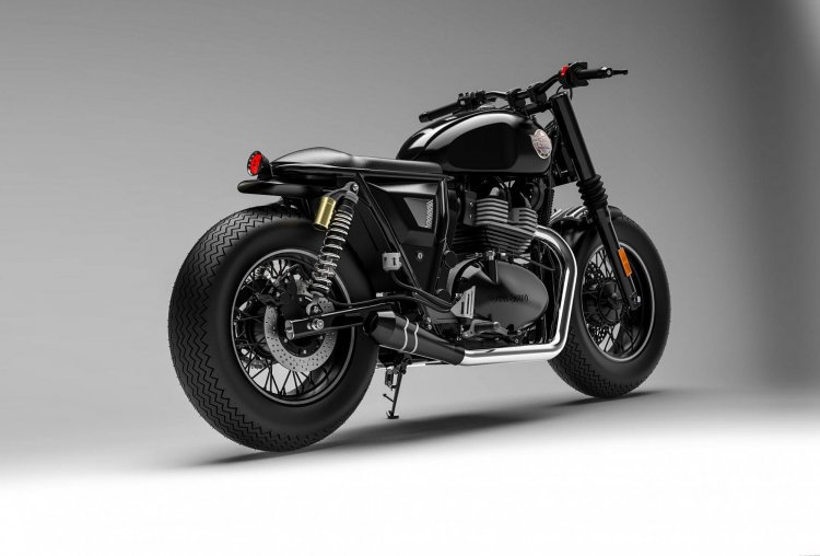 Custom Royal Enfield Interceptor 650 Rear Three Qu