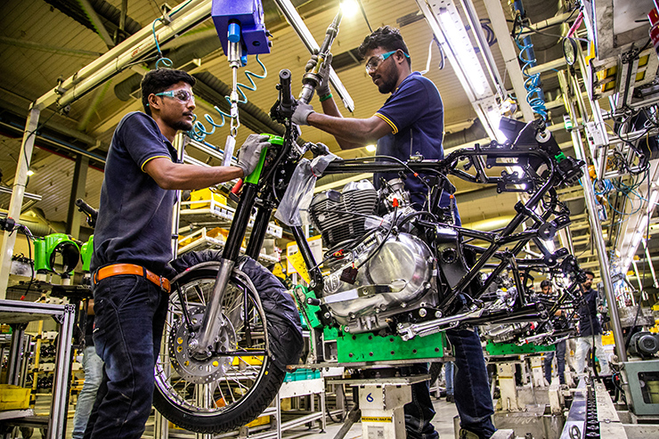 Royal Enfield Production Line