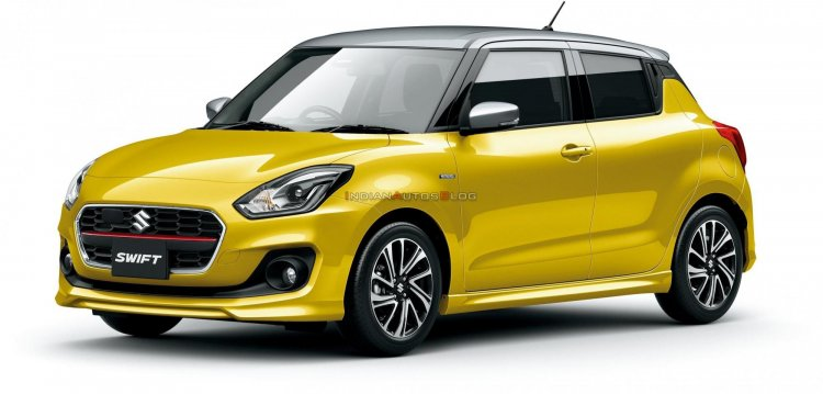 2020 Maruti Swift Facelift Yellow Japan