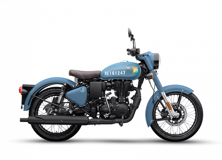 Bs6 Royal Enfield Classic 350 Airborne Blue