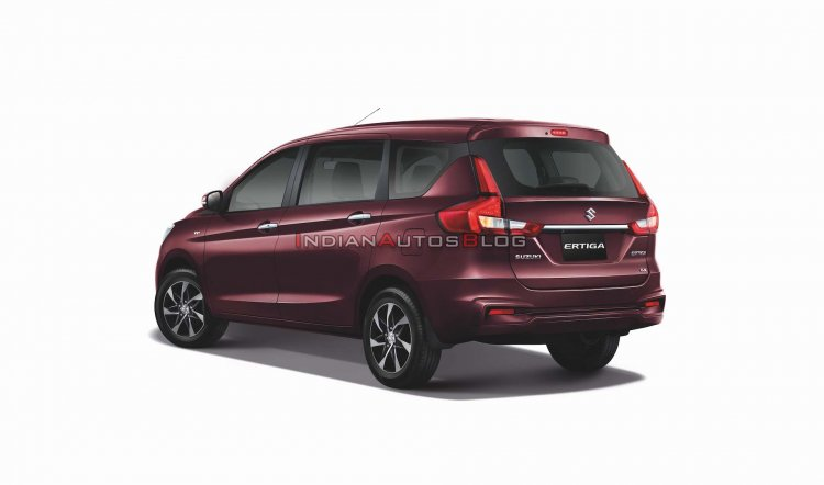 2020 Suzuki Ertiga Rear Three Quarters Thailand 17