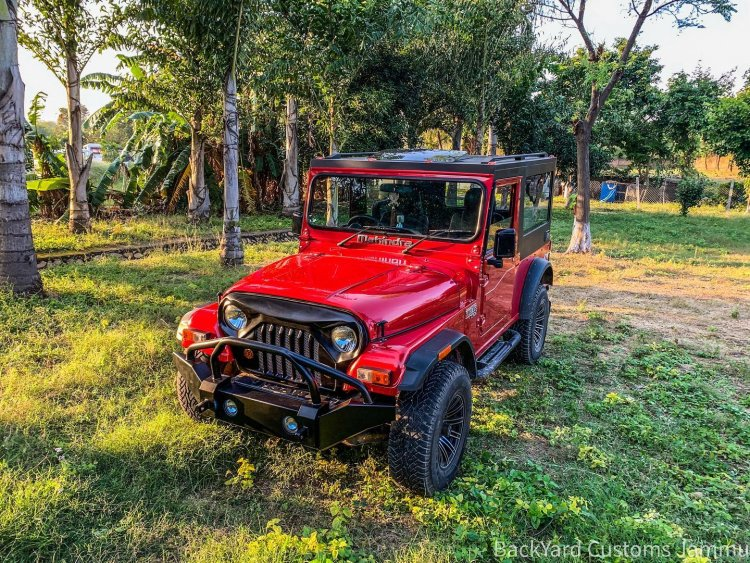 Customised Mahindra Thar front three quarter