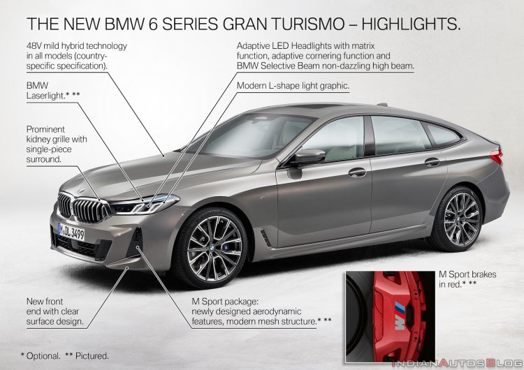 2021 Bmw 6 Series Gt Facelift Exterior Changes