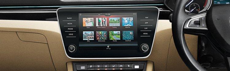 New Skoda Superb Facelift Infotainment System 4ec2