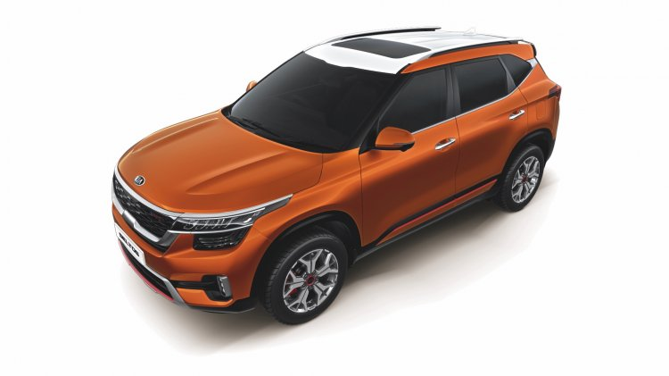 Kia Seltos 2020 Orange White Dual Tone