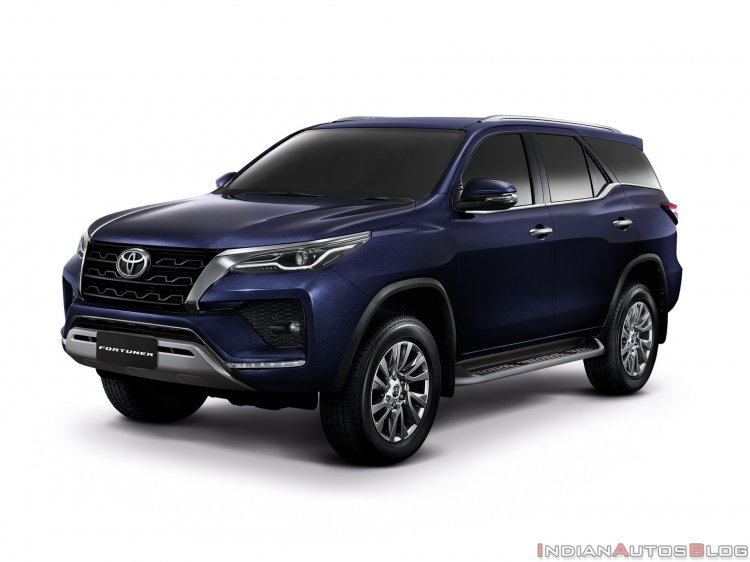 2021 Toyota Fortuner Facelift Blue