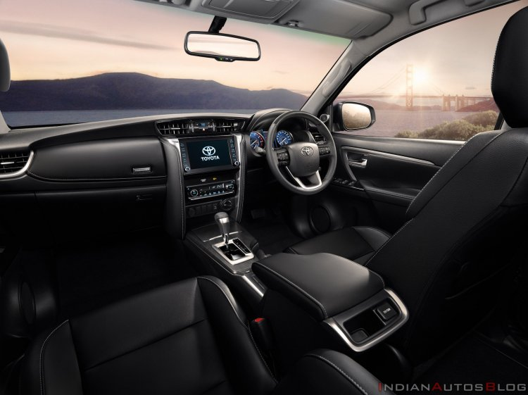2021 Toyota Fortuner Facelift Interior Dashboard