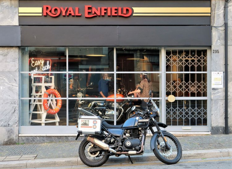 Royal Enfield Concept Store In Portugal Entry