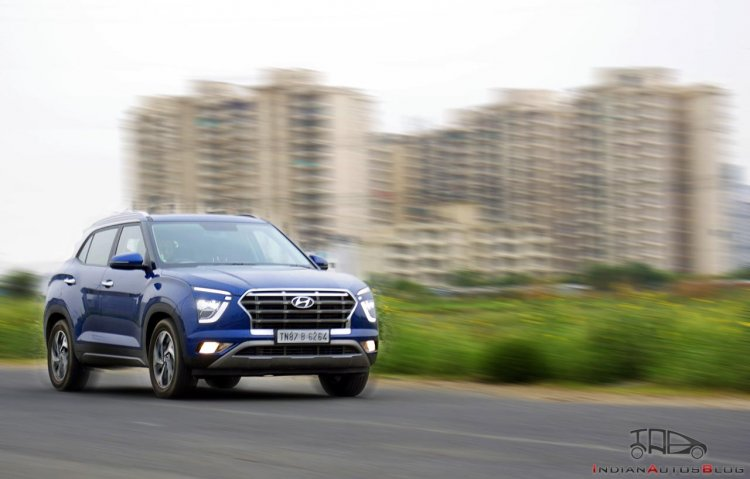 2020 Hyundai Creta Images Action Shot Front Three