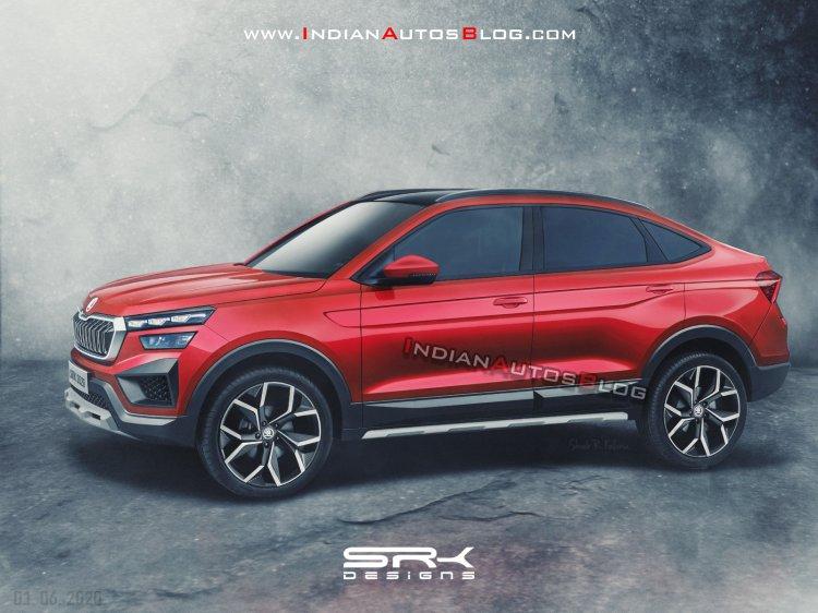 Skoda Vision In Coupe Suv Render
