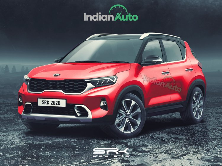 Kia Sonet Render Front Three Quarter