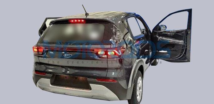 New Kia Sonet Spied Base Model Rear