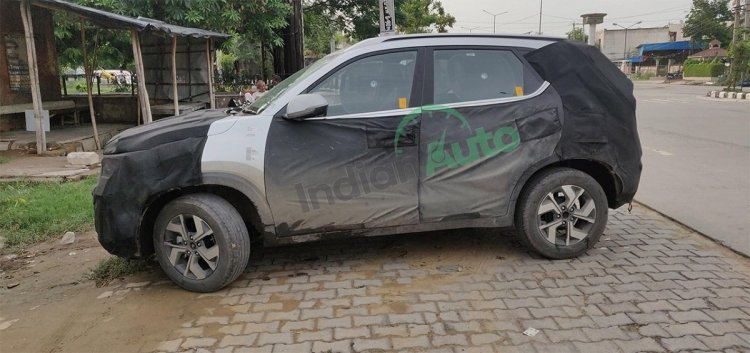 Kia Sonet Spy Shot Left Side