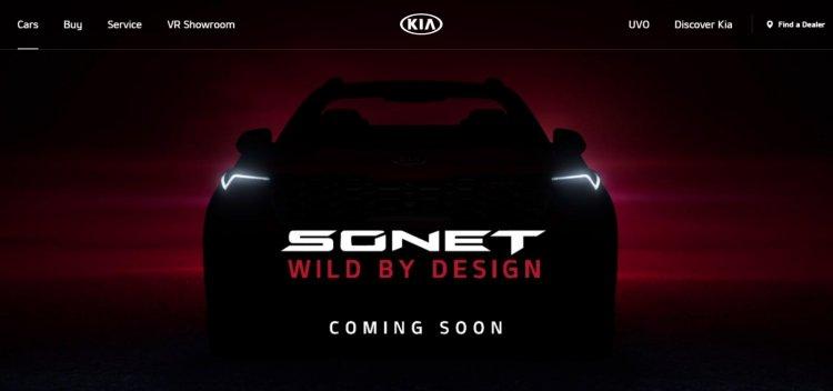 Kia Sonet Officially Showcased On Kia Website