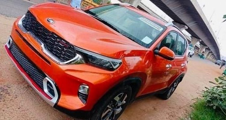 All New Kia Sonet Spotted Without Camo Front