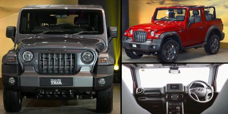 2020 Mahindra Thar Images Front Side Interior Coll