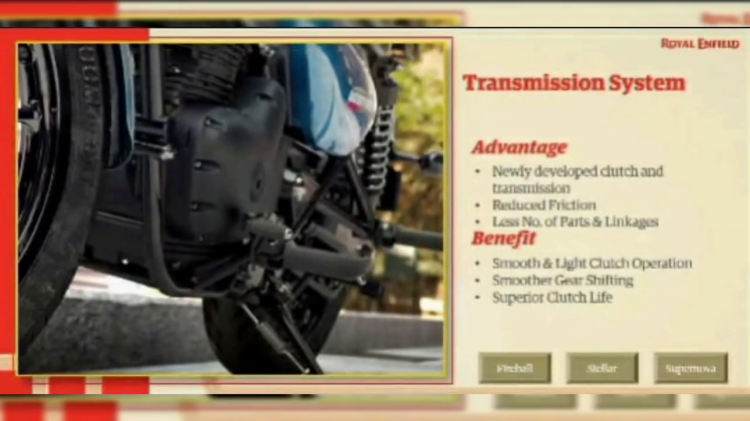 Royal Enfield Meteor 350 Transmission