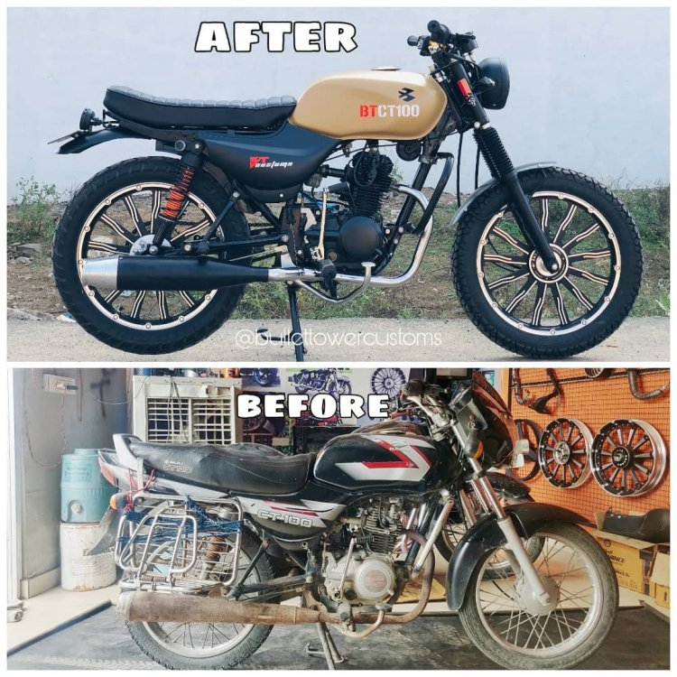 Modified Bajaj CT 100