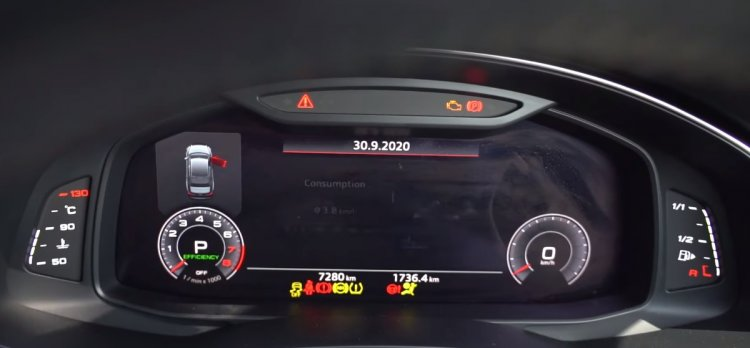 2020 Audi A6 Instrument Console