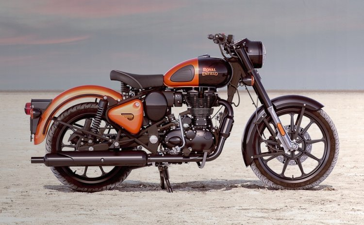 Royal Enfield Classic 350 Orange Ember In Desert