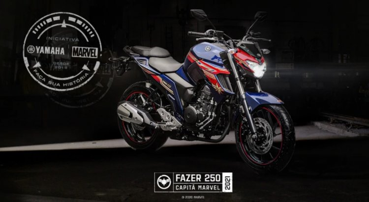 Yamaha Fz 25 Captain Marvel Colour Brazil