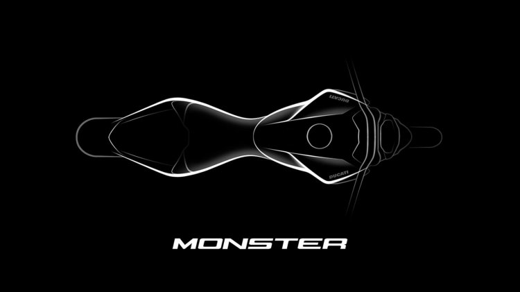 2021 Ducati Monster Teaser Top View