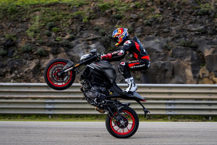 2021 Ducati Monster Wheelie