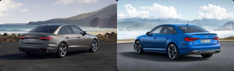 2019 Vs 2021 Audi A4 Rear