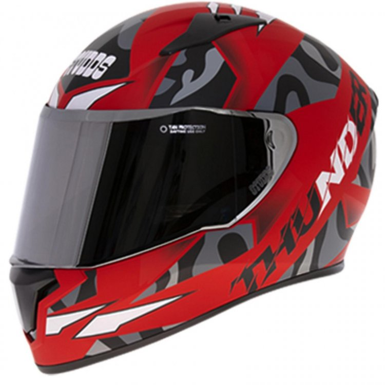 Studds Thunder D7 Decor Gloss Red