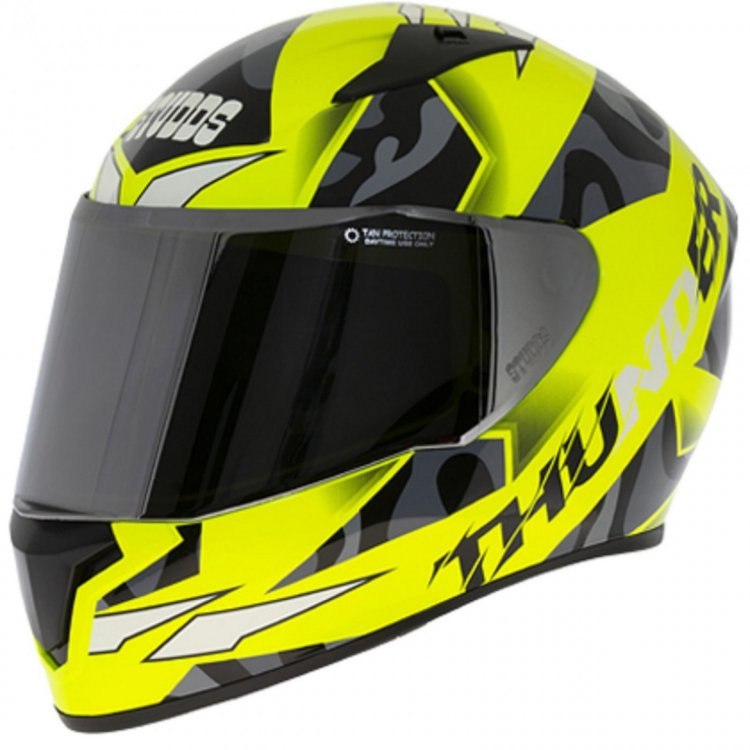 Studds Thunder D7 Decor Neon Yellow