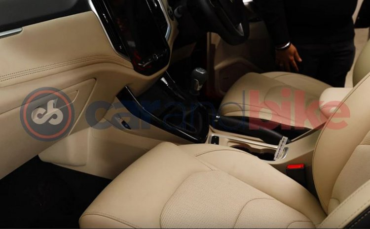 Mg Hector Facelift Interior Spied
