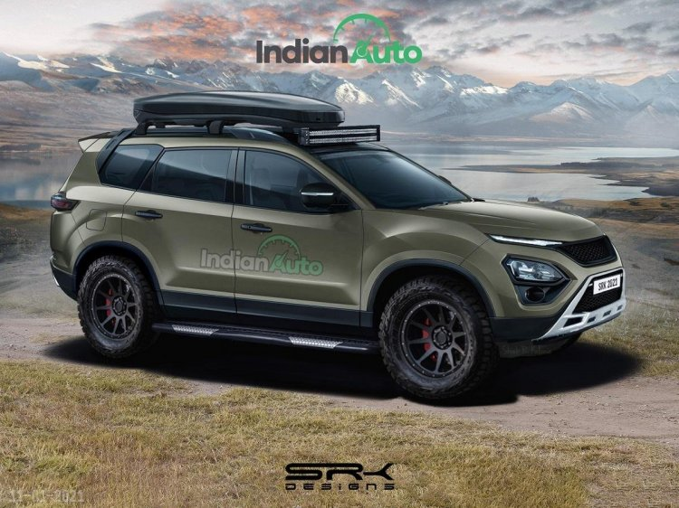 Tata Safari Off Road Rendering
