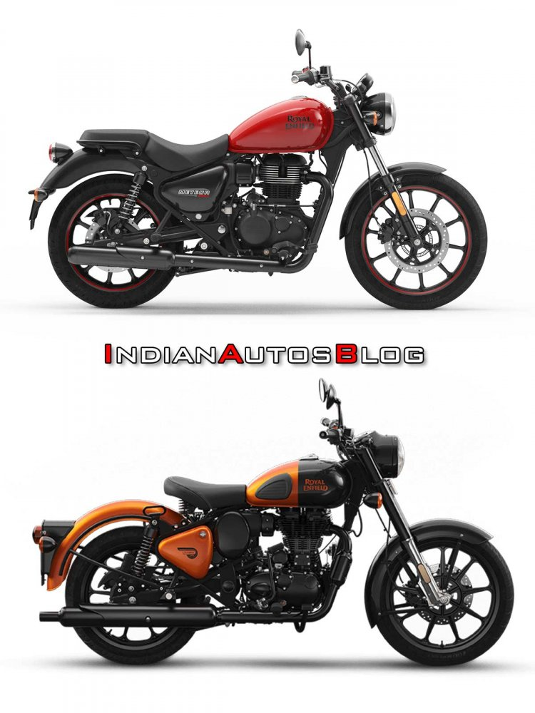 Royal Enfield Meteor 350 Vs Classic 350 Rhs