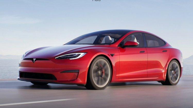 2021 Tesla Model S Front Close Up