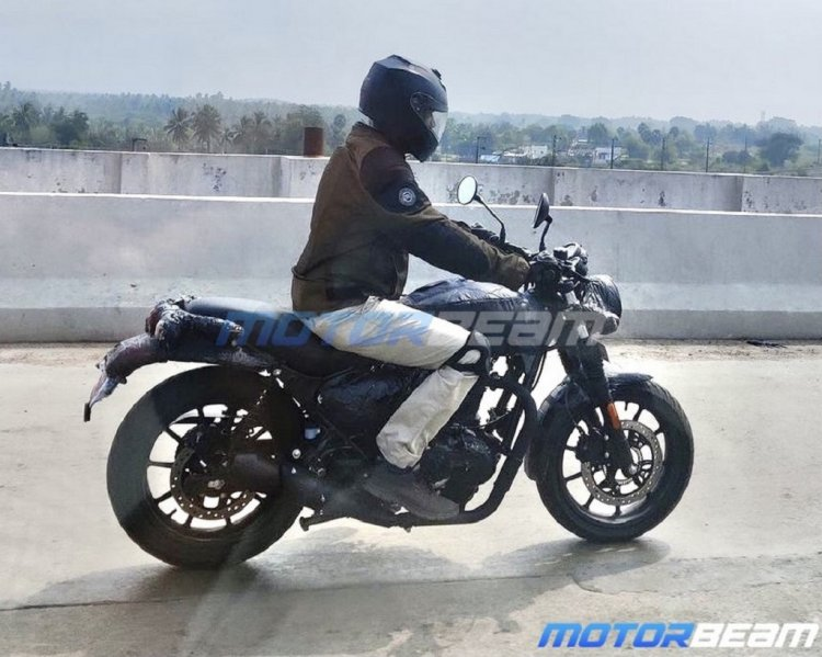 New Royal Enfield Motorcycle Spy Shot Right Side
