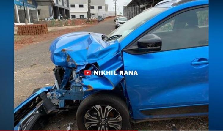 Renault Kiger accident side profile