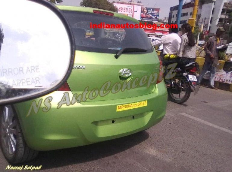 Hyundai i20 two door lhd spied