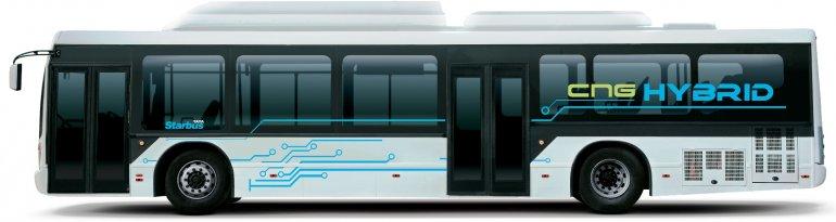Tata CNG hybrid bus