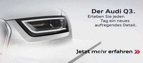 Audi Q3 teaser headlamp