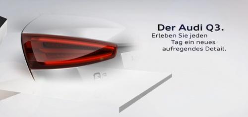 Audi Q3 teaser tail lamp