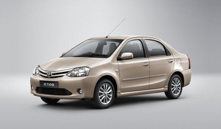 Toyota Etios sedan brown