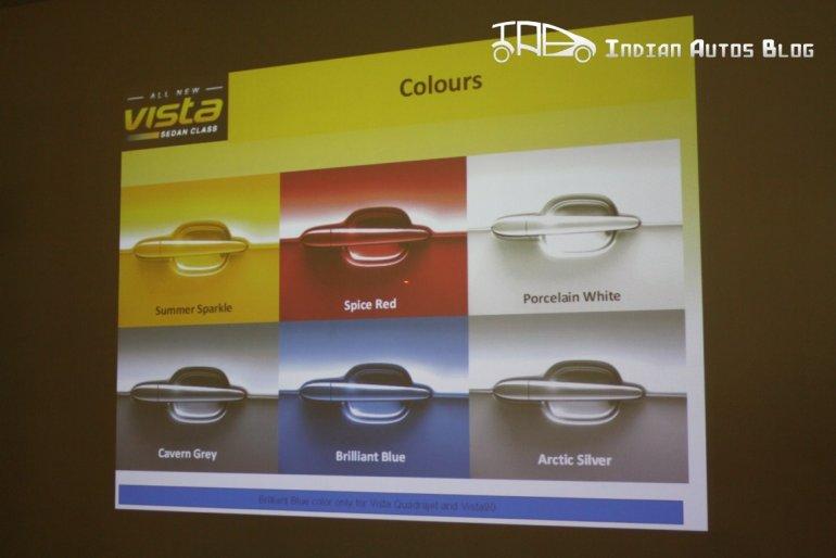 Tata Indica Vista facelift colors