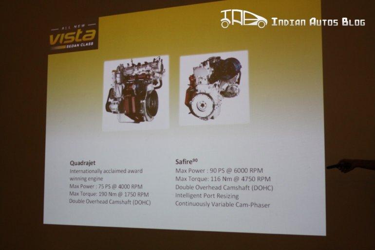 Tata Indica Vista facelift engines