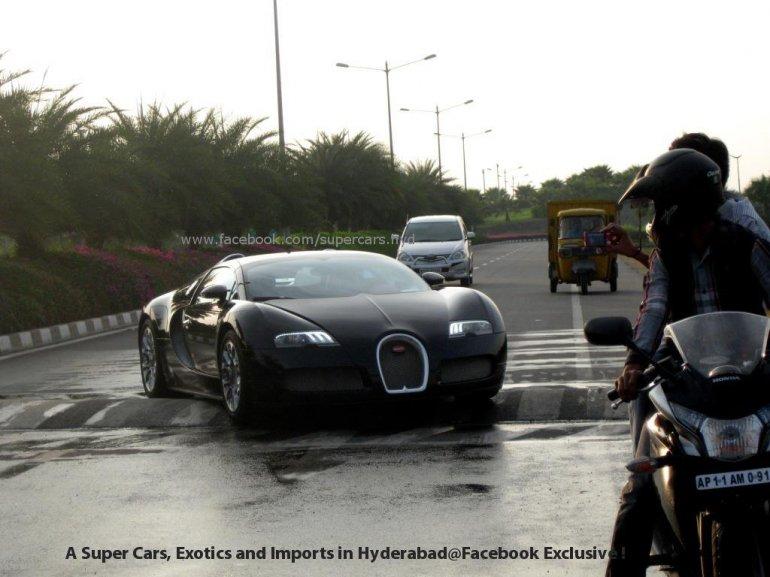 Bugatti Veyron speed bump