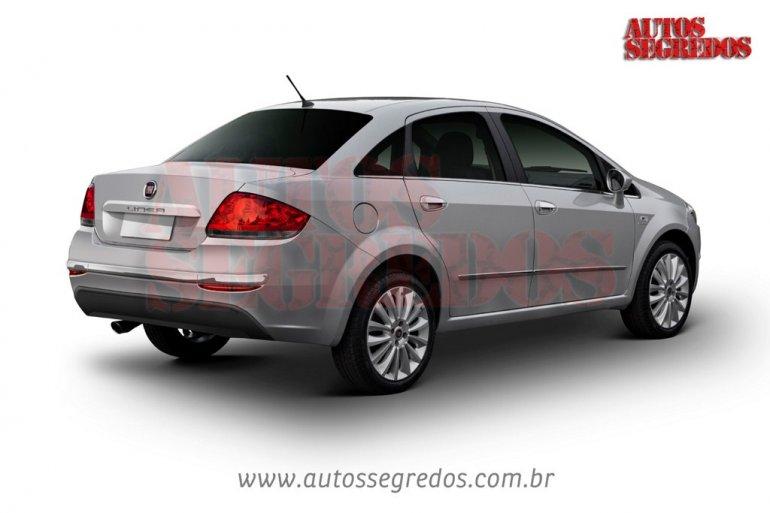 2013 Fiat Linea rear