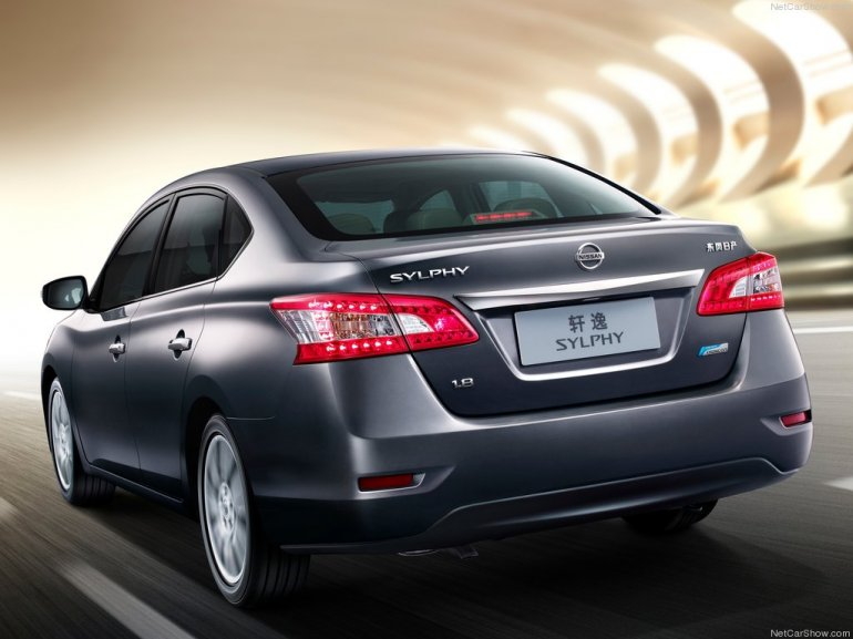 Nissan Sylphy at Beijing 2012 rear three quarters