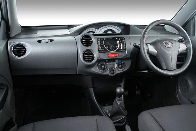 Toyota Etios South Africa market interior